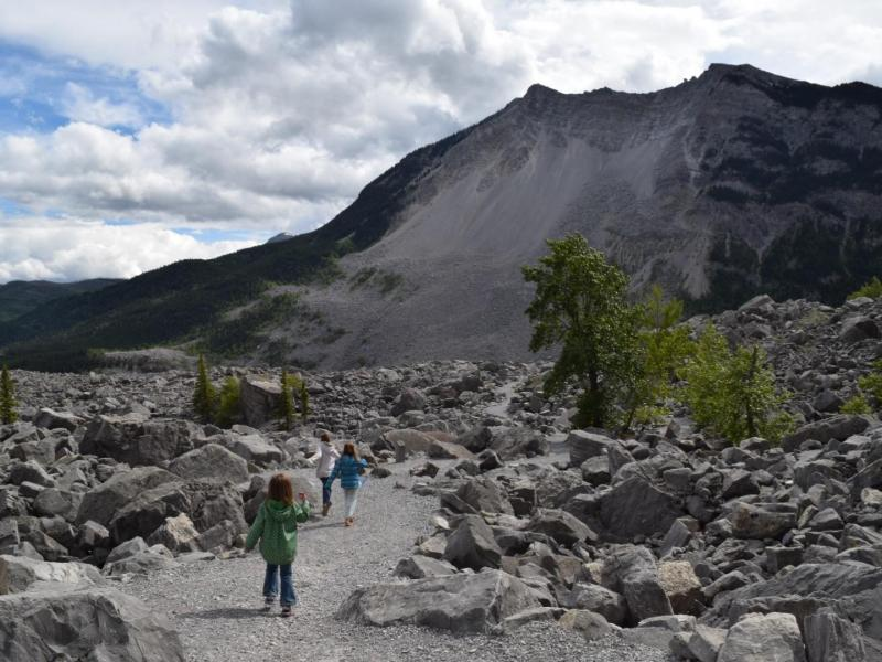 Frank Slide Interpretative Trail in the Crowsnest Pass