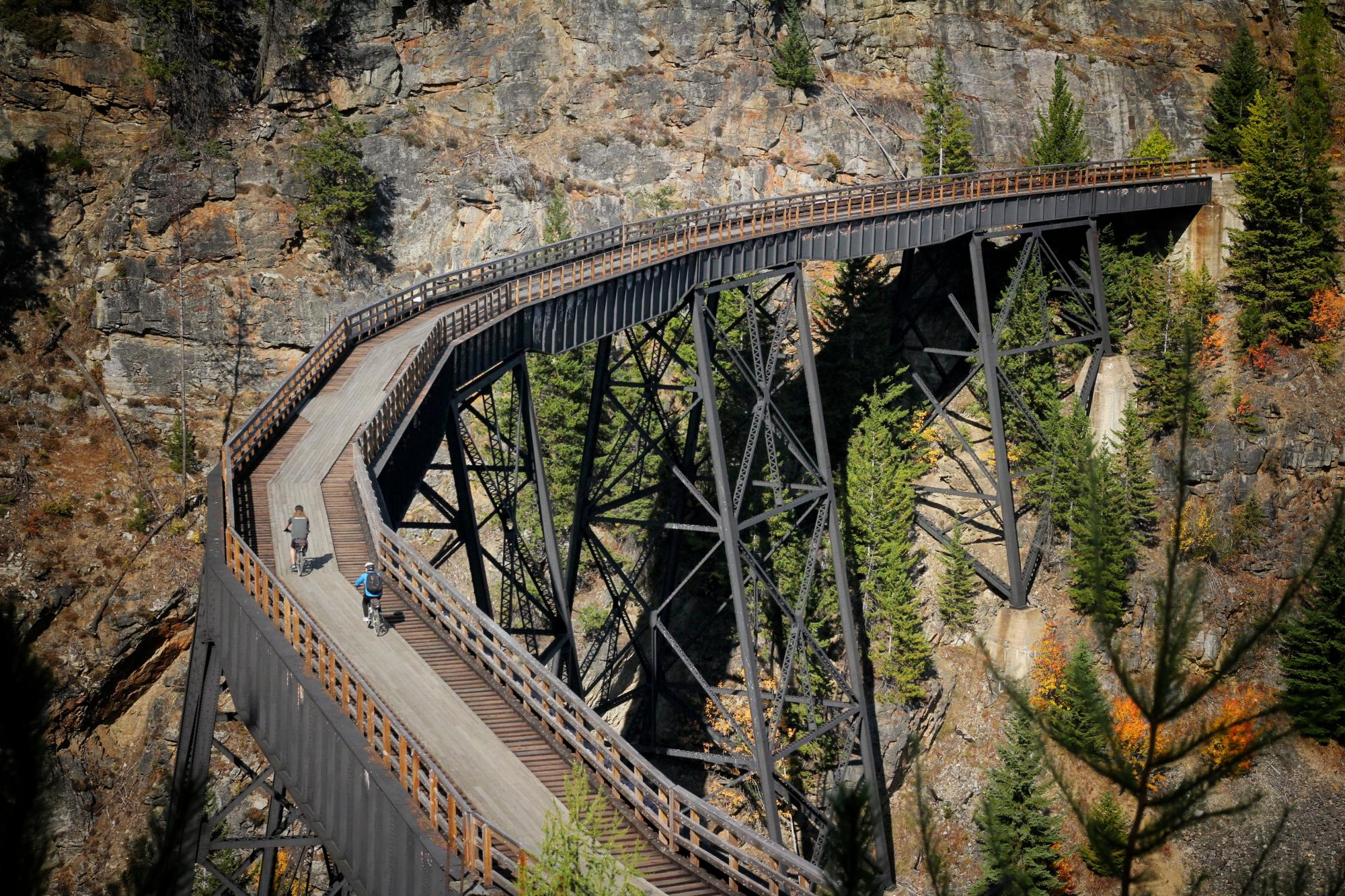Biking in Myra Canyon
