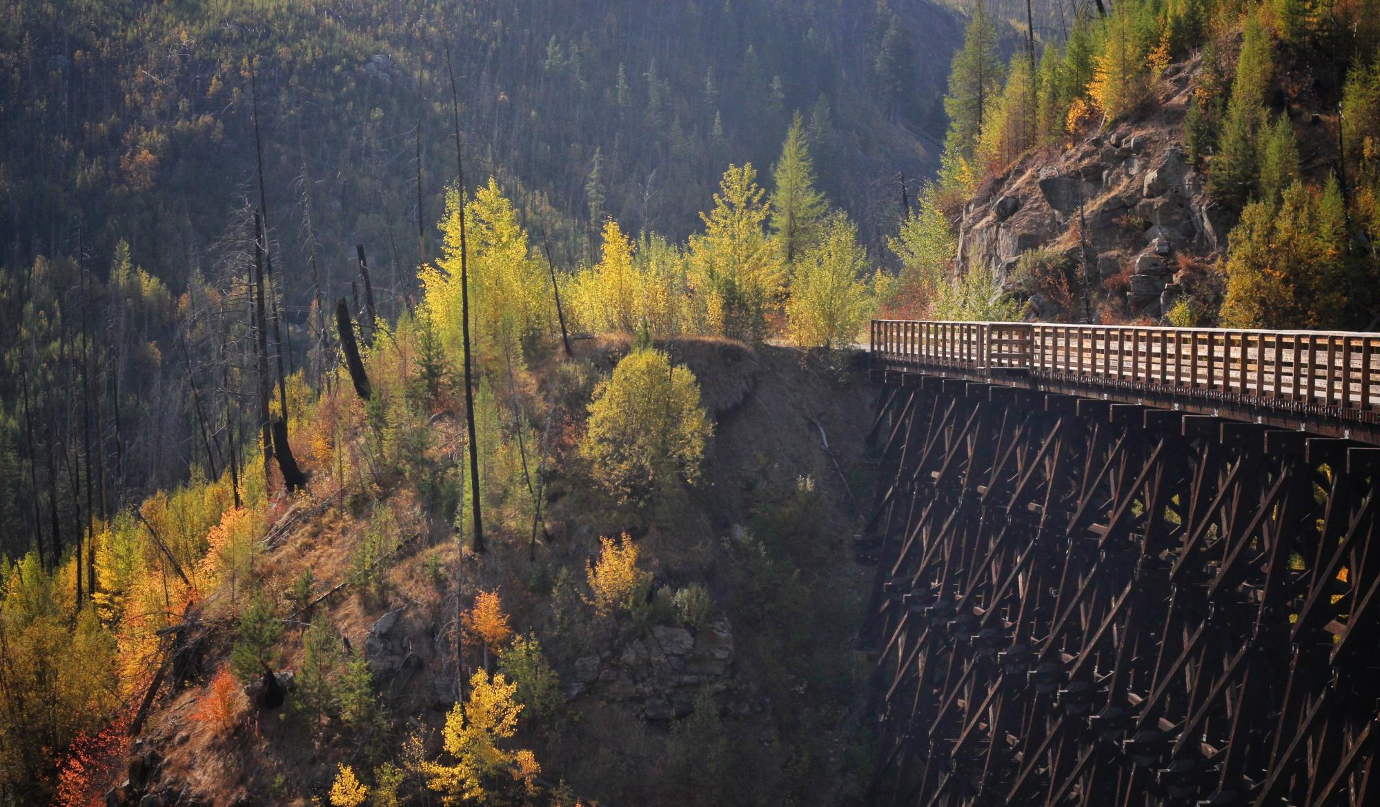 Fall in Myra Canyon