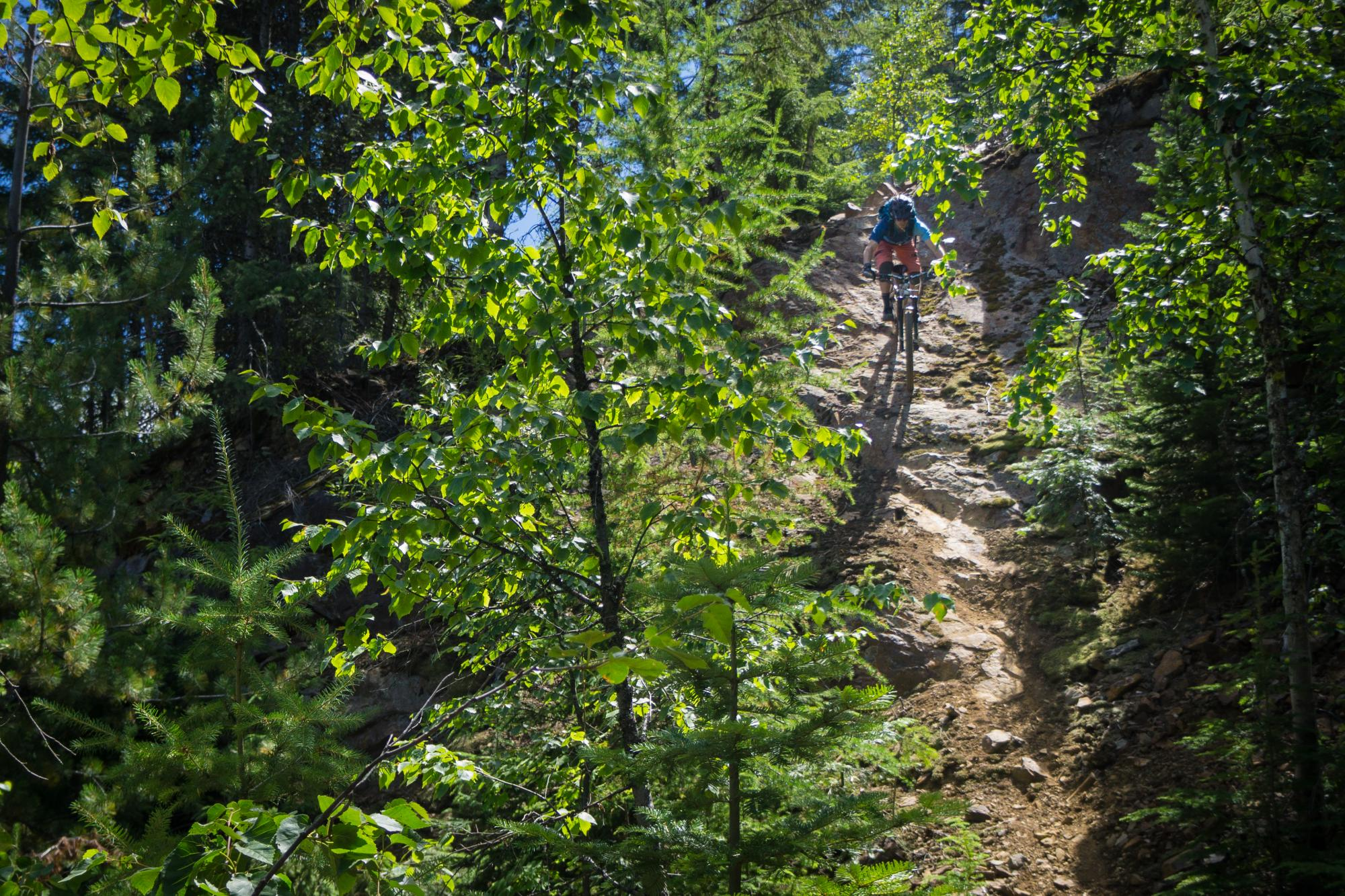 Biking in Rossland BC