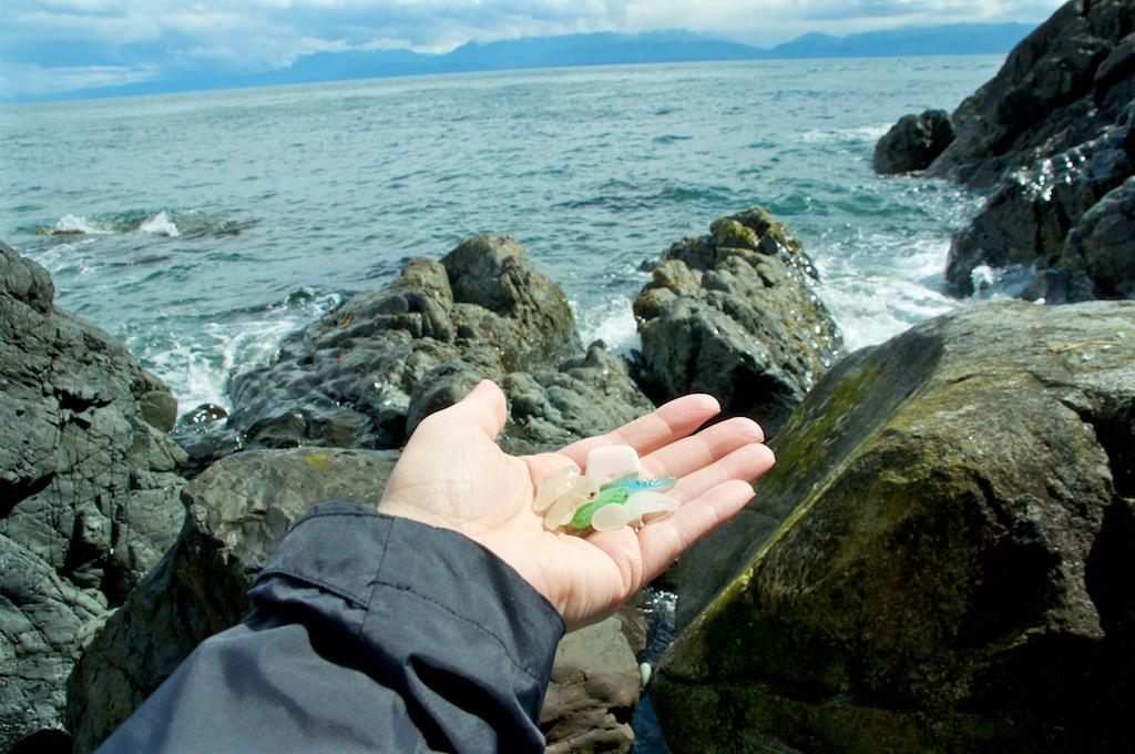Beachcombing in Sooke