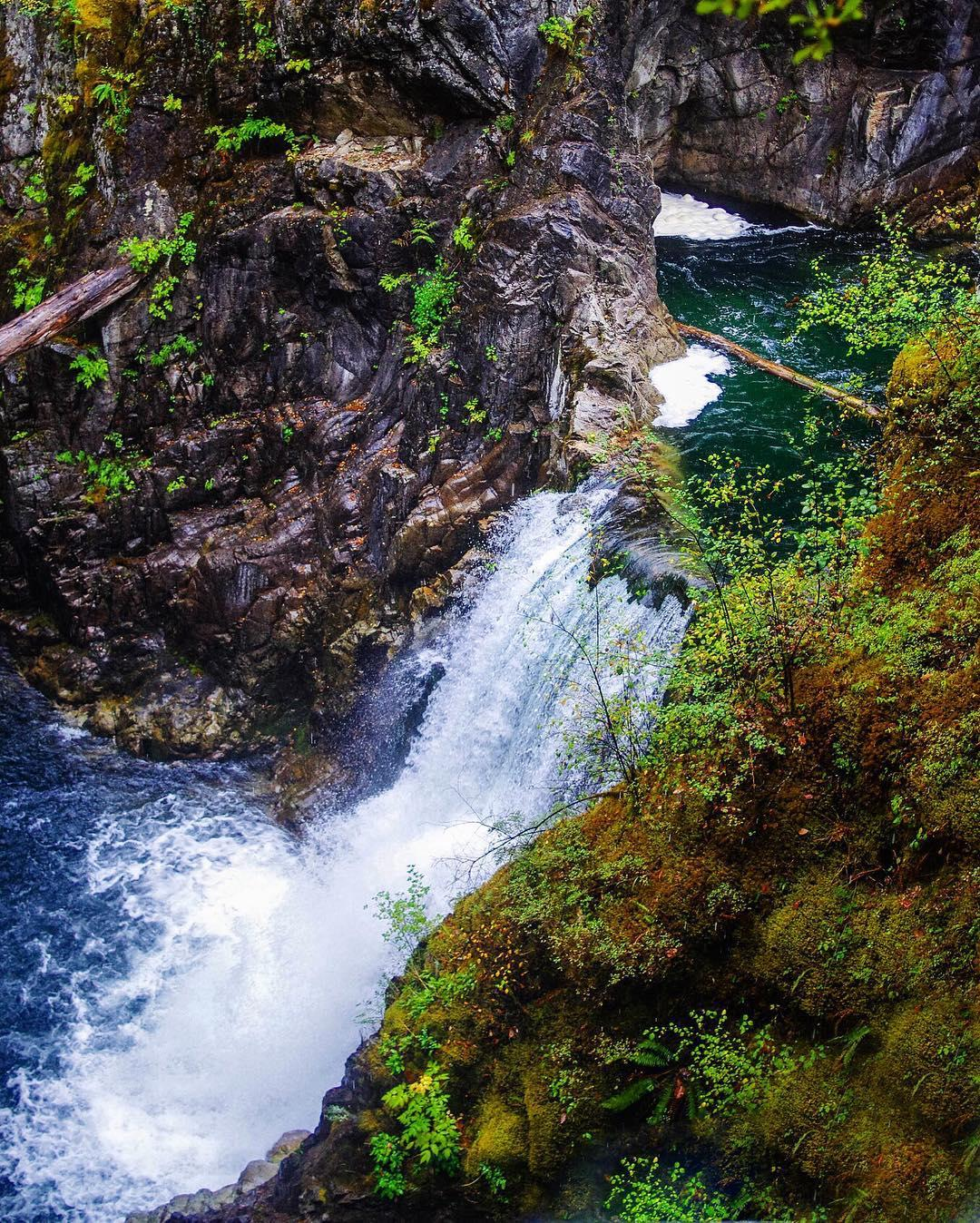 Little Qualicum falls on Vancouver Island