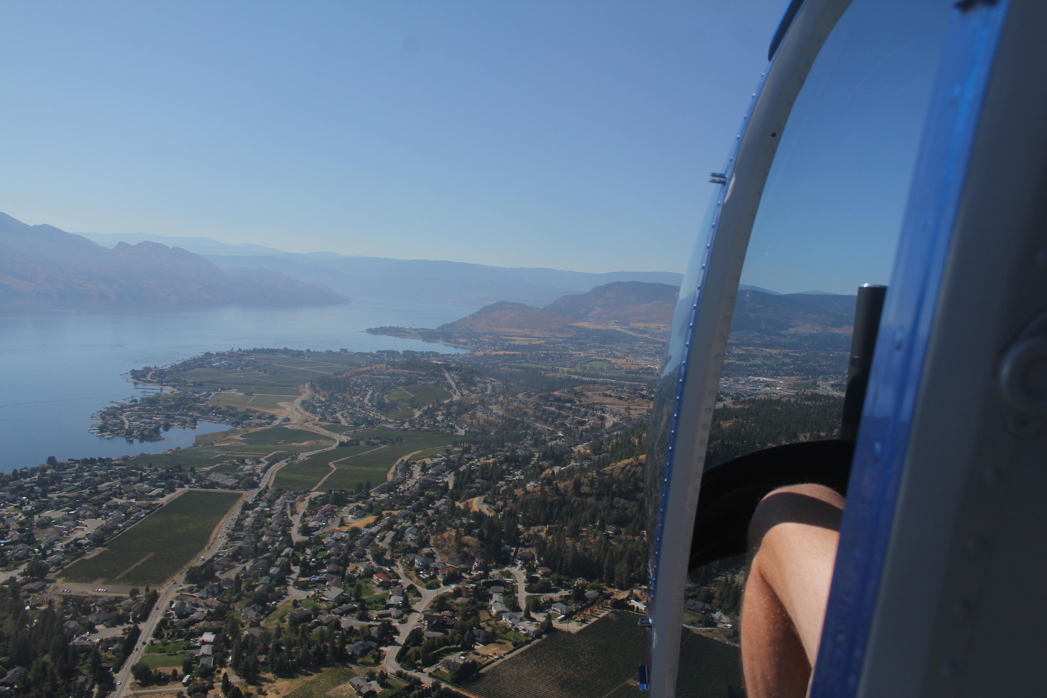 Flying over the Okanagan